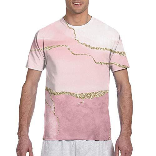 Malachite - Camiseta unisex de manga corta con diseño de mármol en 3D para hombre