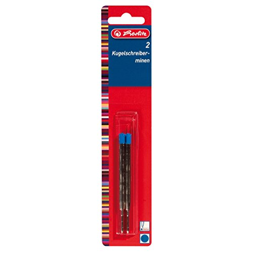 Herlitz Kugelschreibermine Profisize, 2 Stück auf Karte, blau