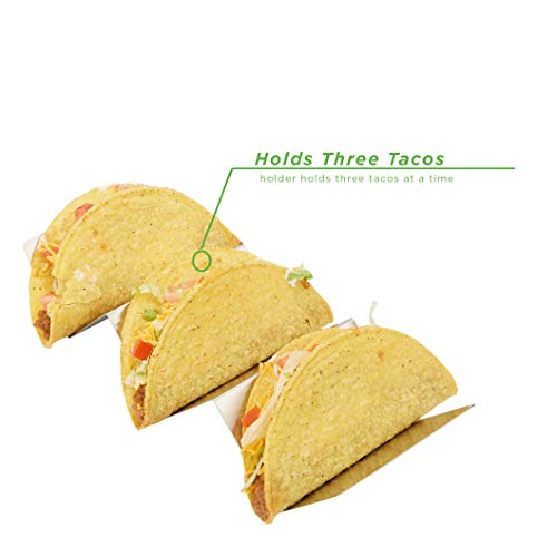 Mind Reader Taco Holder Set of 2 - Taco Stand - Dishwasher & Oven Safe - Taco Tray - Taco Truck Style - Stainless Steel