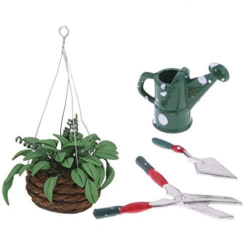 F Fityle Herramientas de Producción Vegetal Tijeras Pala Cizallas Planta Planta Bonsai para Casa de Muñecas