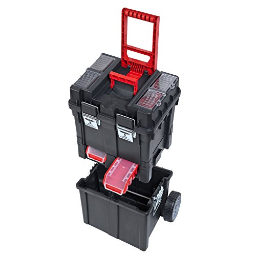 ADB HD Werkzeugkasten/Trolley / Werkzeugtrolly, aus Kunststoff/Werkstattwagen, 495x350x712mm, mit...