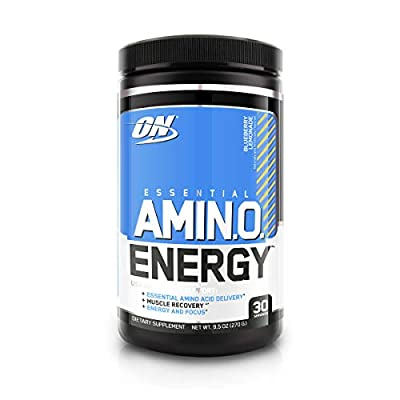 Optimum Nutrition Amino Energy with Green Tea and Green Coffee Extract, Flavor: Blueberry Lemonade, 30 Serving
