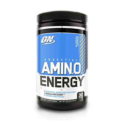 Optimum Nutrition Amino Energy - Pre Workout with Green Tea, BCAA, Amino Acids, Keto Friendly, Green Coffee Extract, Energy Powder - Blueberry Lemonade, 30 Servings