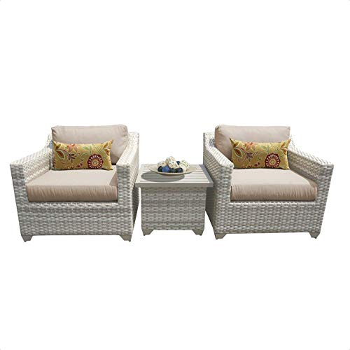Falmouth 3 Piece Rattan Seating Group with Cushions