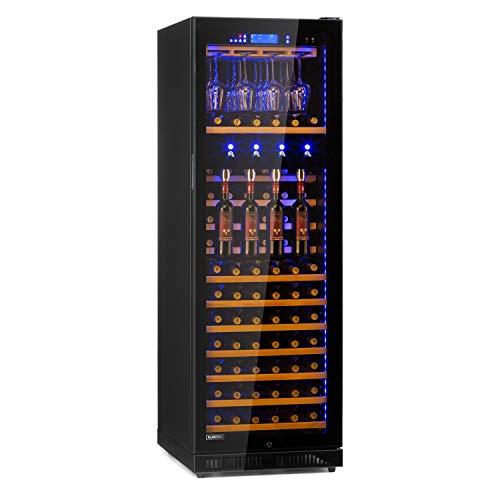 Klarstein First Class 129 Pro Weindispenser Weinkühlschrank,Gastro,Kompressionskühler,Single Zone,Volumen: 129 Flaschen / 430 L,4 Dispenser,Kühltemperatur: 5-22 °C,Touch-Steuerung,schwarz