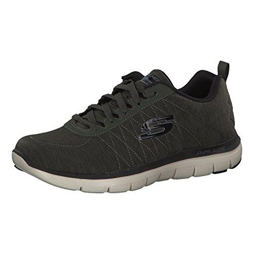 Skechers Herren Sneaker Flex Advantage 2.0, Oliv, 41 EU