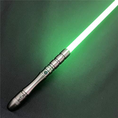 Saber Studio Lightsaber, Metal Aluminum Hilt, RGB LED Rechargeable Light Saber Force FX Heavy Dueling--Gray Hilt(028-2)