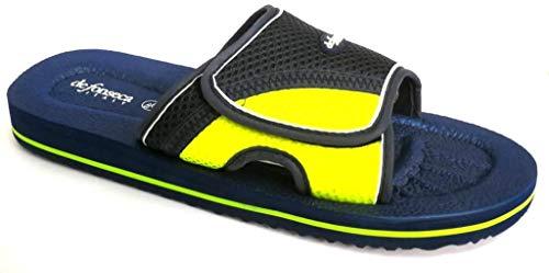 de fonseca Pantofole Ciabatte Mare Uomo MOD. Amalfi E VAR5 M654 Velcro Blu (Numeric_44)
