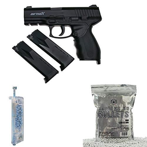 OpTacs Softair Pistole KWC airmaX PT24/7 + Speedloader + 2000 BB Markenkugeln