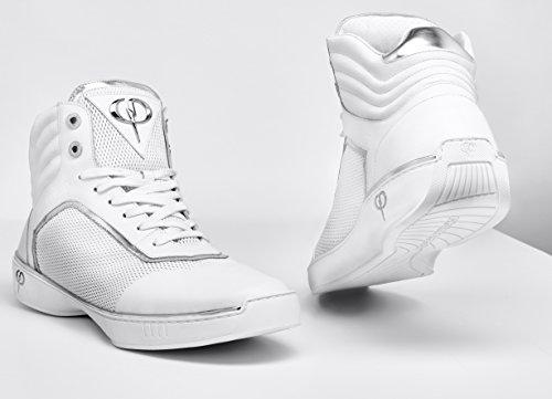PHINOMEN Sneaker - Echtleder - Handarbeit Made in Italy - PHIce White/Silver Gr. 45