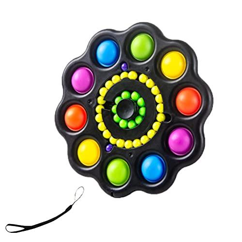 Dan&Dre Silicone Girando Brinquedo Fidget 3 Em 1 Empurrar Bolha Fidget Brinquedo Sensorial Alívio Do Estresse E Anti-Ansiedade Na Ponta Dos Dedos Pião Brinquedo para Adultos E Crianças