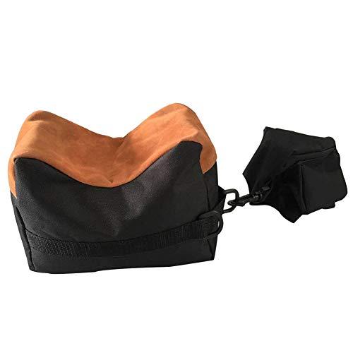 Kenyaw Vorderschaftauflage Hinterschaftauflage Schießauflage Set Für Gewehrauflage Jagd Outdoor Üben, Taktiken Sandsack Fotografie Support Paket(Schwarz)