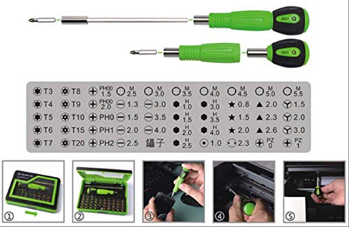 KDLBO Destornillador 53 Pinzas de Destornillador de precisión 1 para Herramientas de reparación de teléfonos móviles