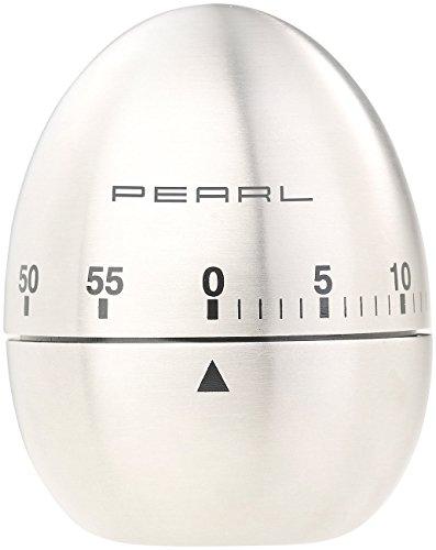 PEARL Küchenwecker: Kurzzeitmesser, Eieruhr aus Edelstahl, 60-Minuten-Timer und Signalton (Stoppuhr)