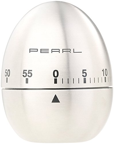 PEARL Küchenwecker: Kurzzeitmesser, Eieruhr aus Edelstahl, 60-Minuten-Timer und Signalton (Kurzzeituhr)