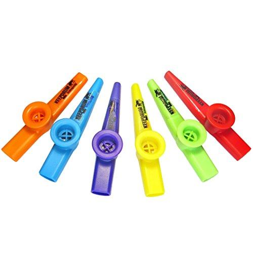keepdrum Kazoo Set 6 Stück Musikinstrument für Kinder