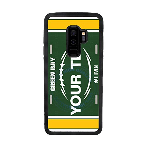 BleuReign(TM) Personalized Custom Name Football Green Bay License Plate TPU Rubber Silicone Phone Case Back Cover for Samsung Galaxy S9 Plus