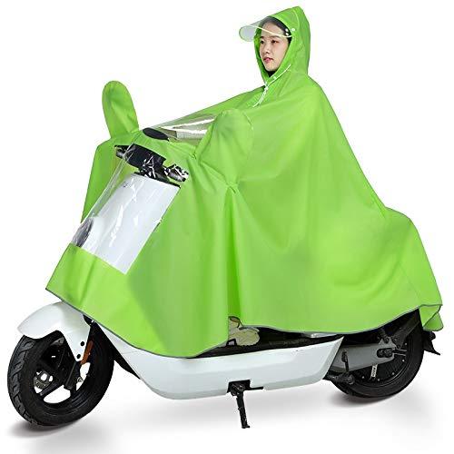 MIAOHOO Mackintosh, Impermeables for Motocicletas eléctricas, Solas señoras baterías, Bicicletas con Espesado...