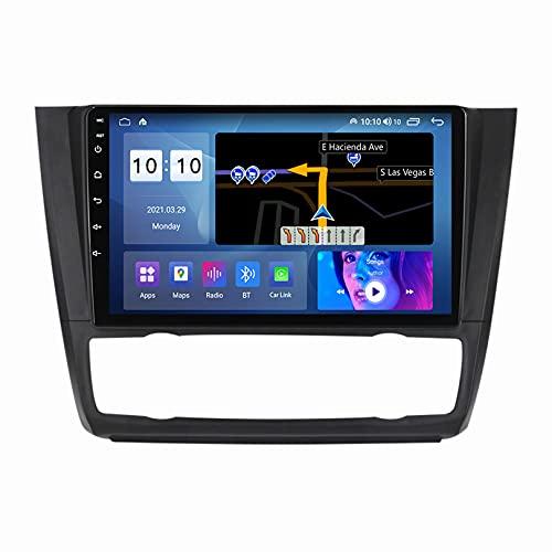 ADMLZQQ 9 Pollici Android 10 Autoradio, per BMW 1 Series E81 E82 E87 E88 2008-2012, Lettore Dvd GPS Navigazione con SWC/Carplay/Dsp/Vivavoce Bluetooth + Fotocamera Posteriore,B,M100S4core1+16