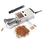 BILXXY Máquina enrolladora de Cigarrillos, inyector automático eléctrico de Metal portátil, máquina para Hacer Rodillos de Tabaco, Herramienta para Fumar DIY para Hacer Cigarrillos