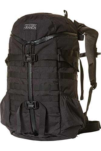 MYSTERY RANCH 2 Day Assault Backpack - Tactical Daypack Molle Hiking Packs, Black, L/XL