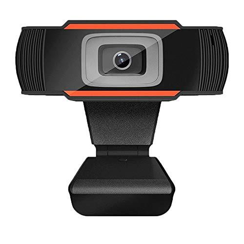 QueenDer Webcam HD con Micrófono USB Web Cámara Mini Plug Play para Videollamadas, Estudios, Conferencias, Android TV, Skype, Ordenador, PC