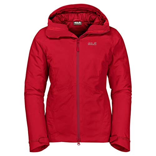 Jack Wolfskin Damen Damen Winterjacke Argon Storm Jacket W, red fire, S, 1111591