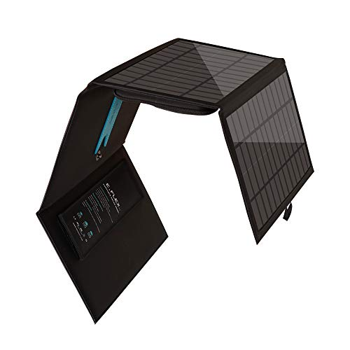 Renogy 30W Portable Foldable Solar Panel Charger Water Resistant Cover with Triple USB Ports for iPhone, iPad, Galaxy S9 S8 Edge Plus, Note, LG, Nexus, HTC and Hiking or Traveling, Nylon Kickstand