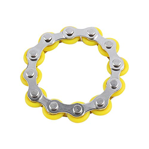 Roller Chain Fidget Toy Stress Relief Steel Bike Chain Fidget Finger Toys Flexible Flippy Bicycle Chain Stress Relief Toys For Kids Adults Anxiety and Autism Relieves ADHD OCD