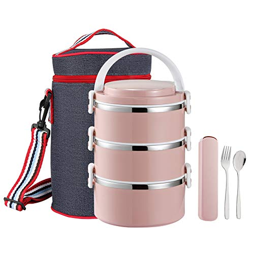 Lunch Box Stainless Steel 100% Leakproof Lunch Container with Insulated Lunch Bag...