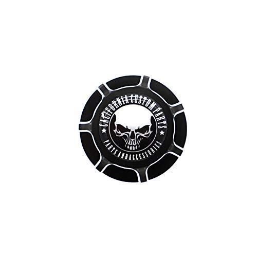 GUAIMI CNC Aluminum Fuel Gas Tank Oil Cap For Harley Davidson Sportster XL 1200 883 X48 Dyna Glued Skull Middle Finger