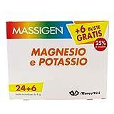 Massigen Magnesio e Potassio 90 Buste (3 Confezioni) - Integratore di Magnesio e Potassio per reintegrare i sali minerali