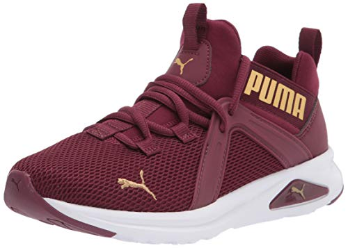 PUMA womens Enzo 2 Cross Trainer, Burgundy-gold, 8.5 US