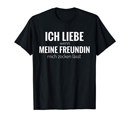 Freund Zocker Gamer Lustig Geburtstag Partnerschaft Geschenk T-Shirt