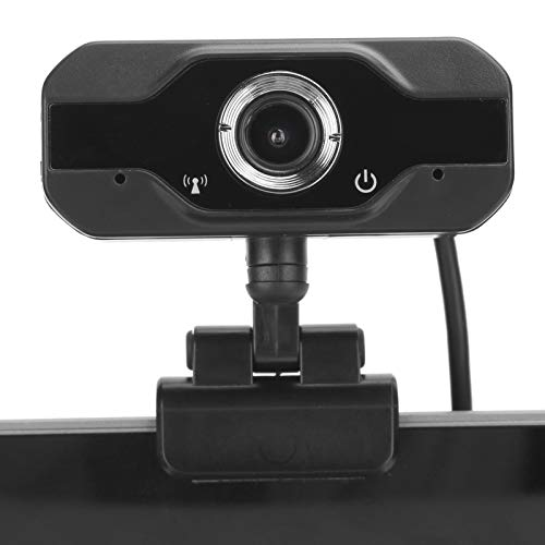 Dilwe 720P HD Webcam with Microphones, USB Streaming Camera with CMOS Sensor, Web Camera 30 FPS Compatible with Windows 2000/XP/win7/8/10/Vista 32bit/Android, for Online Courses, Video Conferencing