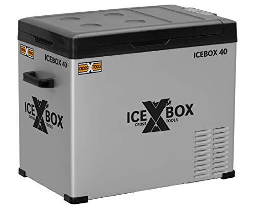 Cross TOOLS ICEBOX 40, elektrische Kompressor-Kühlbox & Gefrierbox, 40 Liter Fassungsvermögen, kühlt & friert bis -20°, ideal für PKW, Camper & Boote, 65 x 37,5 x 42,7 cm