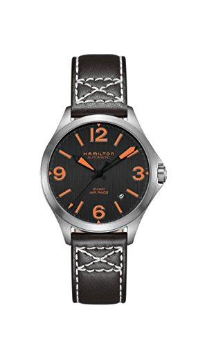 Hamilton herenhorloge 38 mm armband leer zwart automatisch H76235731