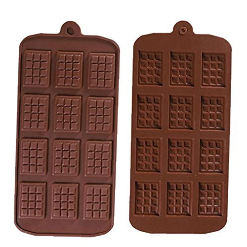 Stampi al cioccolato a pezzi, sottile mini vassoio di cioccolato per cioccolato, caramelle, proteine ??in silicone antiaderente e stampi per barra di energia