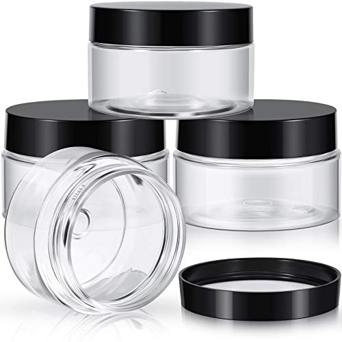 4 Pieces Round Clear Wide-mouth Lea…