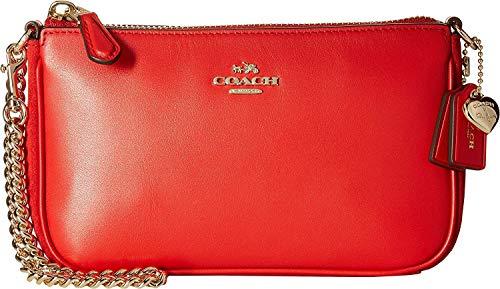 COACH Women's Selena Grace Nolita Wristlet 19 Li/Selena Red One Size