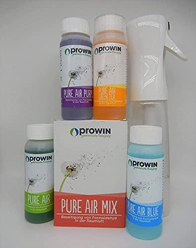 proWIN PURE AIR 4 er Set je 100 ml & Air PUMP Flasche