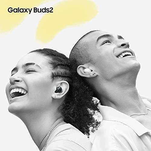 Samsung Galaxy Buds2 Cuffie Bluetooth, True Wireless, Cancellazione attiva rumori, Custodia di Ricarica, Audio bilanciato, IPx2, Ergonomici Peso 5g/auricolare, Graphite, 2021 [Versione Italiana]