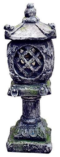 Crafts Skulptur Gartendeko Lampe Skulptur Orientalische Garten Outdoor Retro Säule Statue Laterne Lampe Solarlampe Kunstdekoration Zubehör Handwerk Ornamente Dekoration