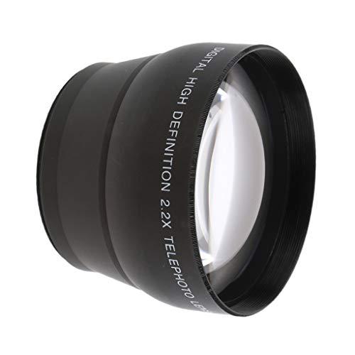 Shiwaki Teleobjetivo De Aumento De 58 Mm 2.2X para Canon Sony Cámaras 18-55 Mm