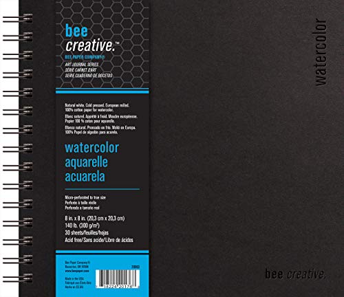 Bee Paper Company Bee Paper Bee Creative Watercolor Book, 8'-by-8', 8x8