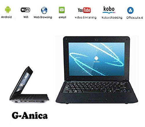 G-Anica Netbook HDMI 10.0 Zoll (WiFi, 1.5GHz RAM 512 Mo, 4 Go ) Tablet-PC Google Android 4.4.2- Schwarz
