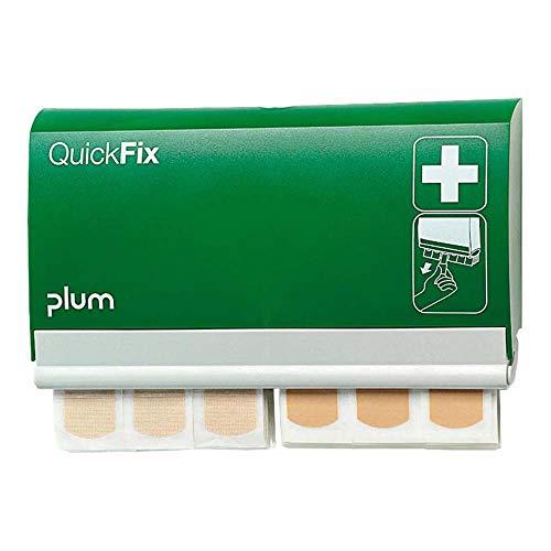 PLUM 5507 QuickFix Pflasterspender DUO komplett bestückt mit einem Nachfüllpack mit 45 wasserfesten Pflastern und einem Nachfüllpack mit 45 textilen Pflastern