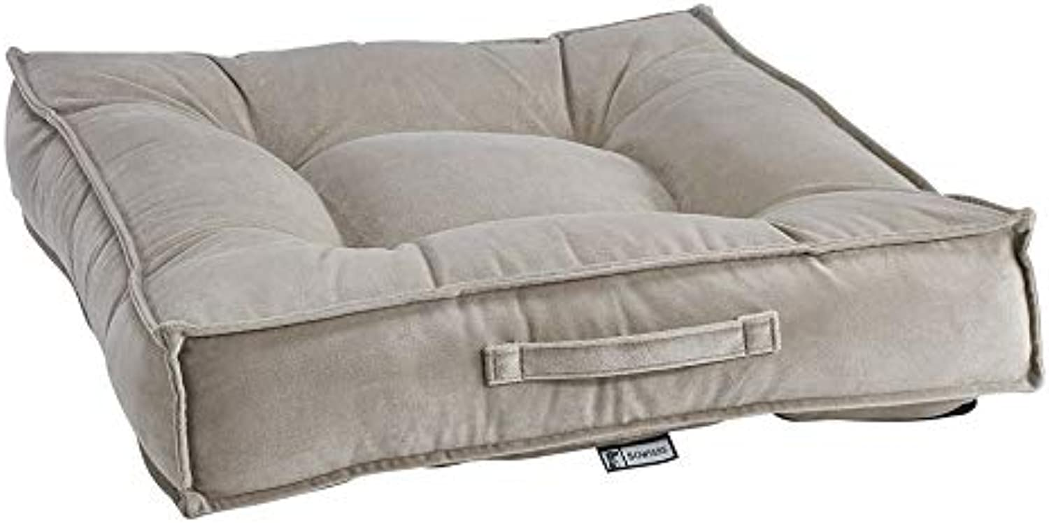Bowsers Almond Microvelvet Piazza Pet Dog Bed