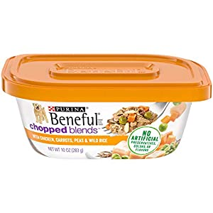 Purina Beneful Wet Dog Food, Chopped Blends With Chicken – 10 oz. Tubs (Pack of 8)