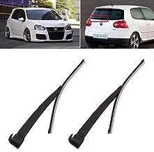 FidgetGear Rear Window Wiper Arm Blade Set for VW Golf Mk5 2004-2008 Polo Mk6 2002-2005